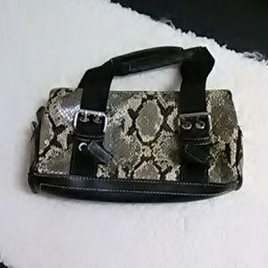 Nine West faux snakeskin purse